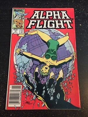 Alpha Flight#4 Incredible Condition 9.2(1983) Sue Richards, Namor App, Byrne Art