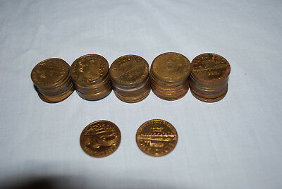 Lot of 50 Americas Best Car Wash Coins Tokens