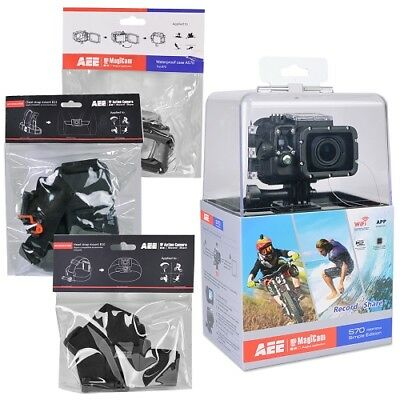 AEE Technology S70 S70AEE Waterproof Video Camera Bundle with 2-Inch LCD Black