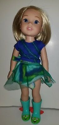 """American Girl CAMILLE DOLL boots skirt tee 14.5"""" Wellie Wishers"""