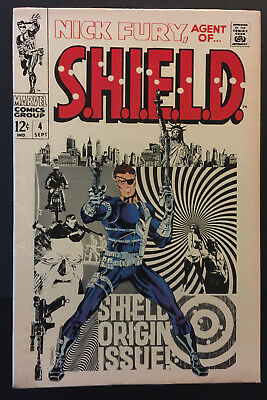 Nick Fury, Agent of SHIELD #4 (1968) plus #2, #13, and bonus #1 (4 issues total)