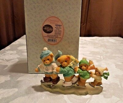 2005 Cherished Teddies Louis, Florice, Arnie, and Vicky 4002843 L.E. Ice Skating