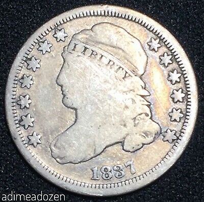 1837 50C Capped Bust Dime GM2962RE