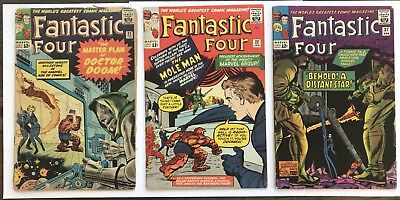 Fantastic Four Lot Issues #22, 23 and 37 Marvel 1964