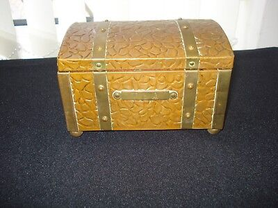 Brass & Copper Arts And Crafts Style Tea Caddy