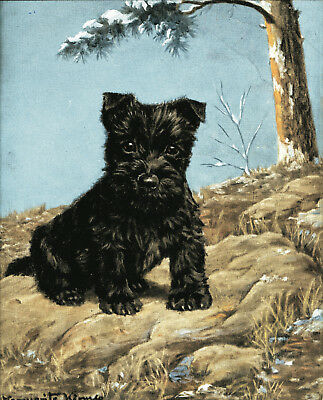 "Scottie Terrier art print 18"" x 24"""