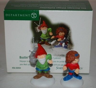 """Department 56 North Pole Series Bustin' A Move Lot of 2 # 56.56850 2"""" W/box"""