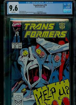 Transformers 70 CGC 9.6 NM+ Megatron Andrew Wildman cover Marvel 1990