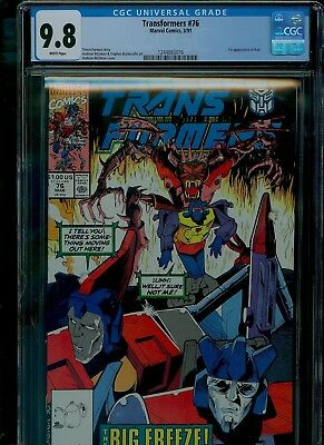Transformers 76 CGC 9.8 NM/MINT Decepticons Dinobots Wildman cover Marvel 1990