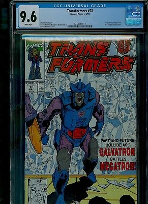 Transformers 78 CGC 9.6 NM+ Galvatron Megatron Andrew Wildman cover Marvel 1991