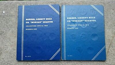 Barber Quarter Collection in Whitman Folders