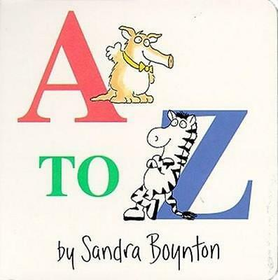 NEW A to Z By Sandra Boynton Cloth over Boards Free Shipping