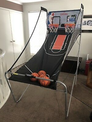 Spalding Indoor 2 player LED Electronic Basketball Double Shot Hoops Arcade Game
