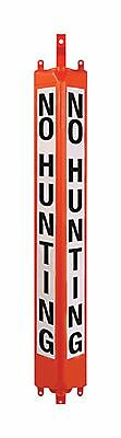 "3d Post T-Post Sign Orange 24"" No Hunting Case of 12"