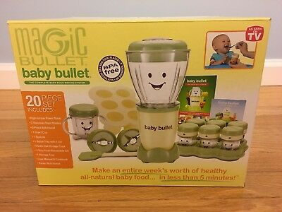 Brand New in Box 20pc. Magic Baby Bullet Complete Food Making System