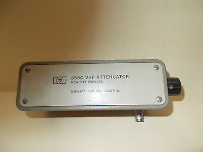 HP 355C  0-12 db 50 ohm attenuator- 1 db steps