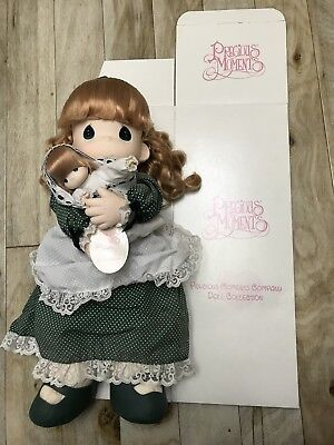 "Precious Moments 16"" Kelly And Baby Erin Great Condition With Box"
