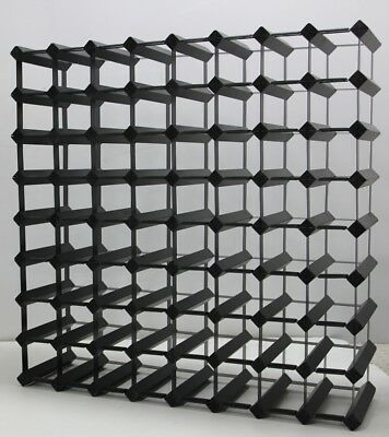 72 Bottle ONYX BLACK Borders Timber Wine Rack 1000's SOLD  throughout Australia