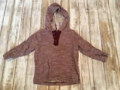 Old Navy 18-24 Month Boys Hooded Sweater Maroon