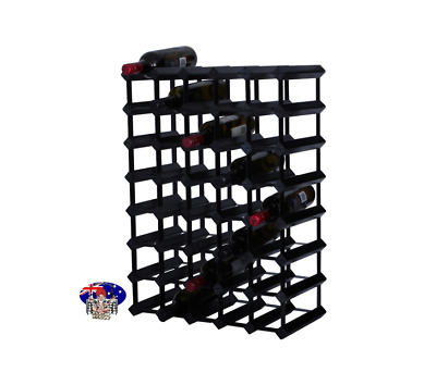 40/42 Bottle BLACK Timber Wine Rack - 100% Australian - Free Delivery