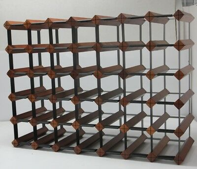 40/42 Bottle MAHOGANY Timber Wine Rack - Complete Wine Storage Solution