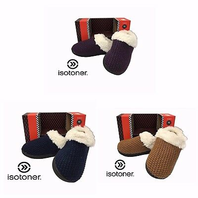 Isotoner Signature Women's Yard Knitted Clog Enhanced Heel Cushion Slipper