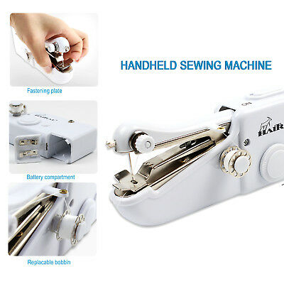 HAITRAL Portable Stitch Sew Hand Held Quick Sewing Machine Handy Cordless Repair