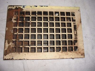 Cast iron heater grate 8 x 12 architectural salvage antique heat vent original