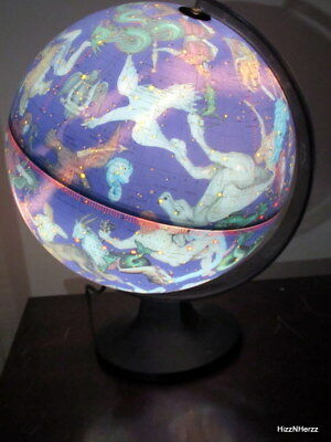 Vtg 1975 Scan-Globe Illuminated Electric Celestial Globe Astronomy -Rare Lighted