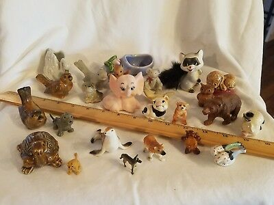 Huge 1950's 1960's Vintage lot of Porcelain/Ceramic Miniature Animals and More!