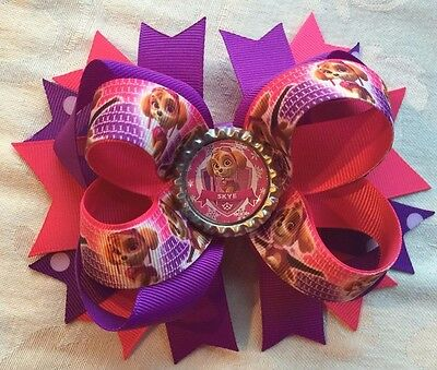 "Extra Large ""Paw Patrol - Skye"" Hair Bow"