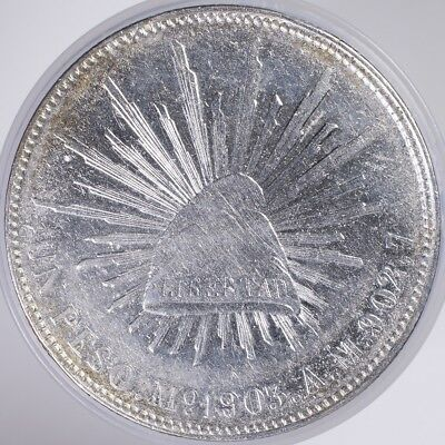1903 Mexico 1 Peso AU/BU cleaned, .9027 Silver, .7857oz