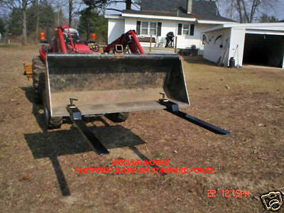 clamp on bucket forks pallet brush debris forks tractor forks made in USA