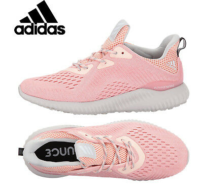 34bf818cd Womens ADIDAS ALPHABOUNCE EM Womens Running Shoes Pink Sneakers BW1195 NEW