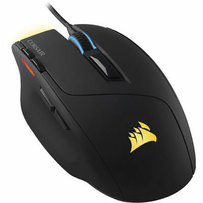 Corsair Sabre RGB LED Backlit Wired Ergonomic USB Optical 10000DPI Gaming Mouse