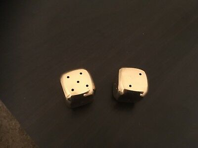 Gold Plated Brass Dice ( large)