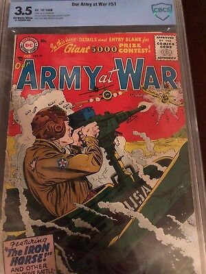 DC Comics Our Army at War #51, 1956 CBCS Graded 3.5
