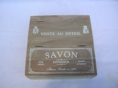 Wooden French Country Storage Box Holder