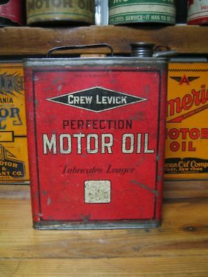 Vintage Original Cities Service Crew Levick Perfection Motor Oil Can 1 Gallon