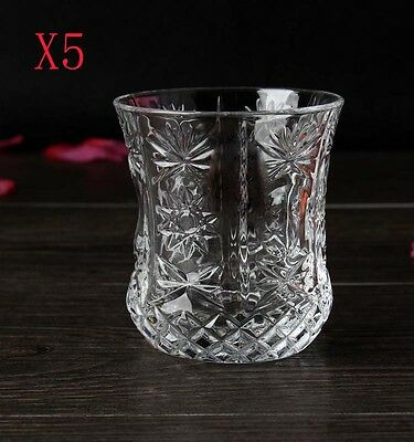 New 5X Capacity 220ML Height 86MM Transparent Cocktail Wine Glass/Glassware %