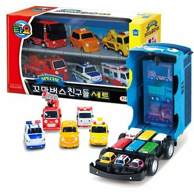 The Little Bus Tayo Friends Mini Car Carrier Storage Toy + Special Mini Cars Set