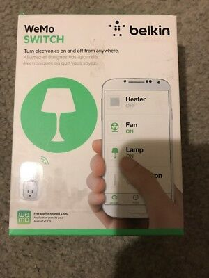 Belkin Wemo Outlet Plug Wi-Fi Smart Phone Control Lights Switch Electronics