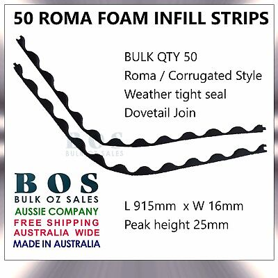 Bos | Roma Infill Strips - 50 Pack - Foam Corrugated Roofing Strip Weather Tight