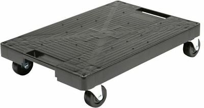 Multi-Purpose Black Garage Dolly Moving Platform Small Cart Wheeled Rolling New