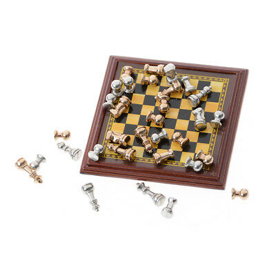 Hot Sale Dollhouse Miniature 1:12 Toy A Set Of Metal Chess Set   G0C  2017