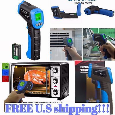 Temperature Gun Non-contact Infrared IR Laser Digital Thermometer -58 to 1022℉