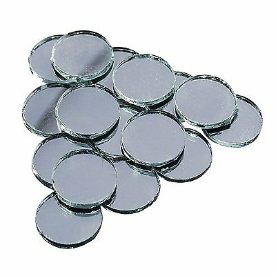 20Pcs Small Glass Mirror Round Shape Home Decorative Silver Crafted Mirror Mr02