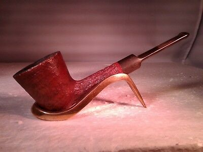 Vintage Rusticated Pipe & Pouch Tobacco Estate Pipe, Made in London England