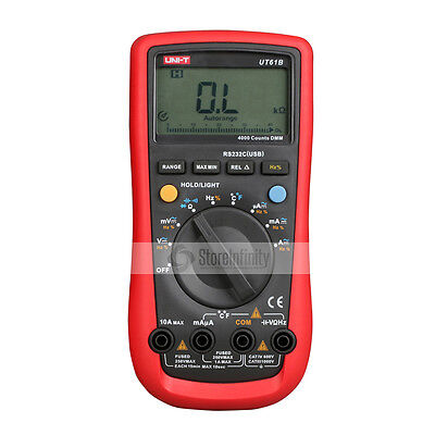 UNI-T UT61B Auto Manual Ranging Modern Digital Multimeter AC DC Tester