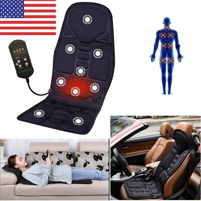 Massage Chair Heated Back Seat Massager Cushion For Car Home Relax Van Stress HM